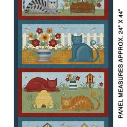 colorful cats panel