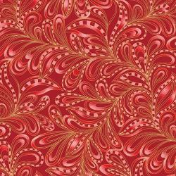 FEATHERLY paisley rough red fabric