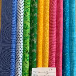multi coloured fabrics pack